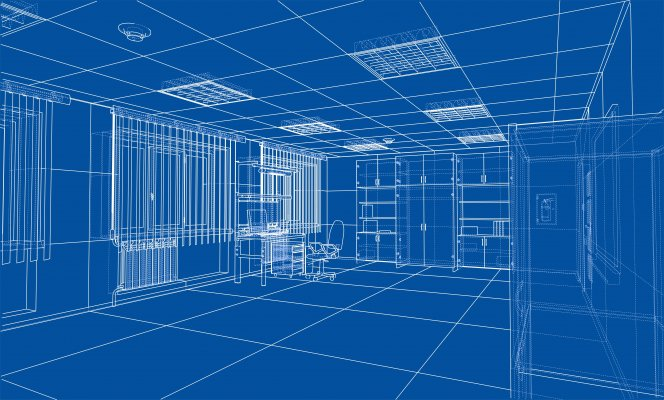 Digital 3d layout of a room