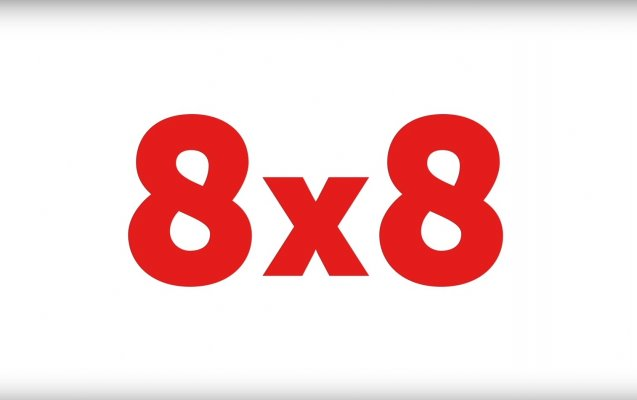 8X8 logo red voip