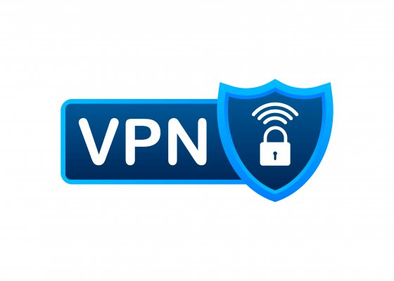 VPN logo with a lock and wifi signal