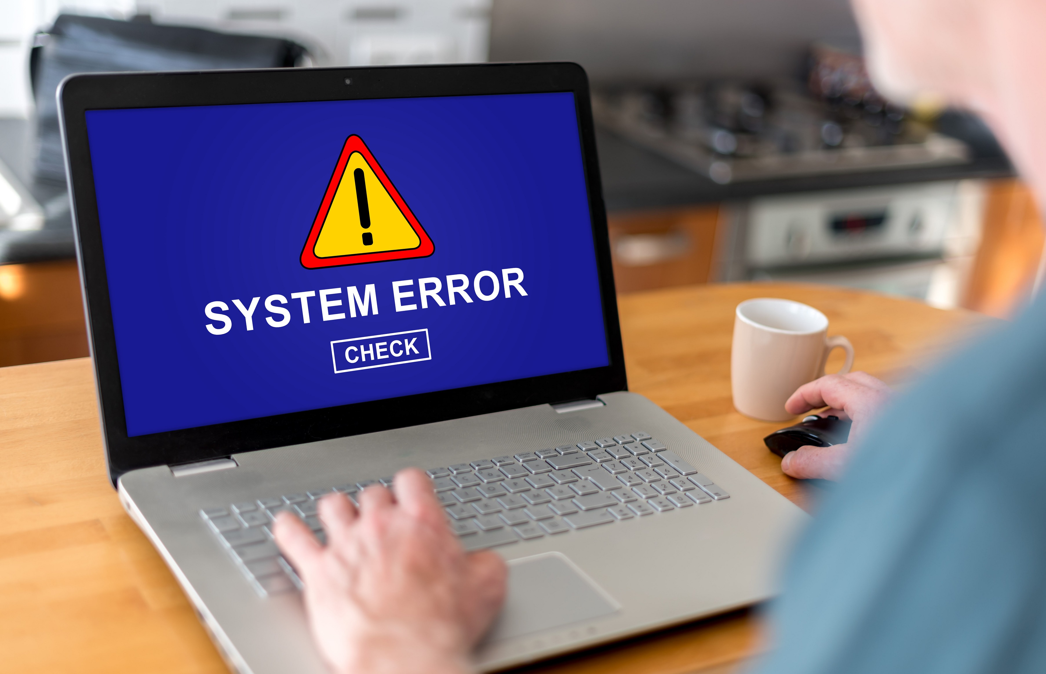 advanced system repair review system optimizers system error on laptop man on laptop