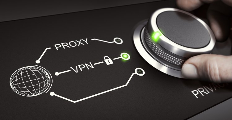 vpn services providers hand on dial knob  proxy vpn