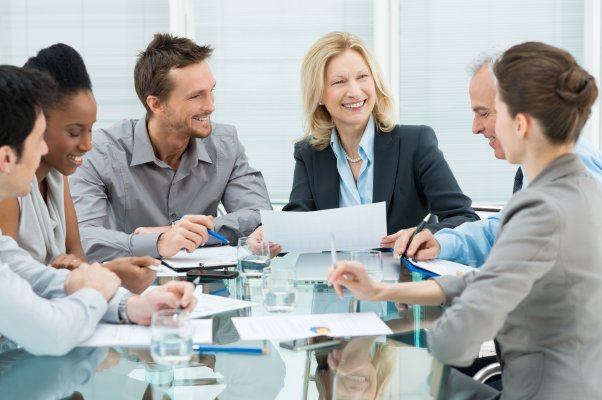 team working project management smiling happy work job
