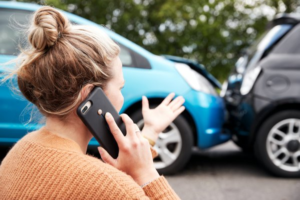Car accident phone call
