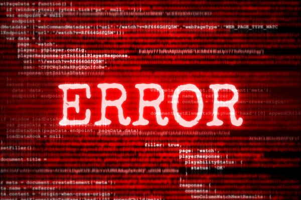 error message in red red binary code background system optimizers reimage