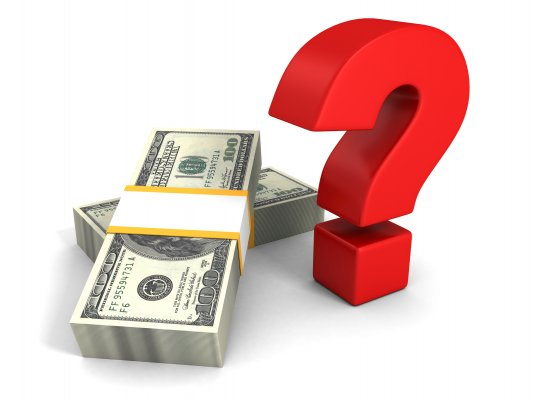car insurance root car insurance red question mark next to dollar bills white background cost money price