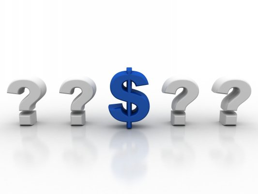 efax online fax service price question marks and blue dollar sign