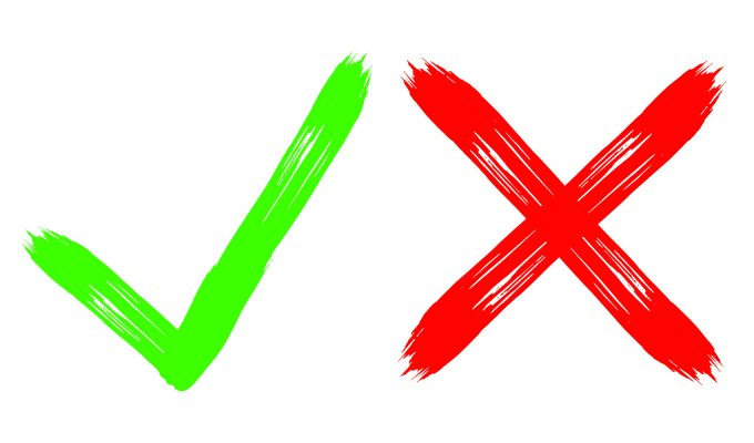 advanced system repair pro system optimizer good or bad green check sign and red X sign on white background