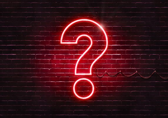 advanced system repair system optimizer scam red neon question mark brick wall background