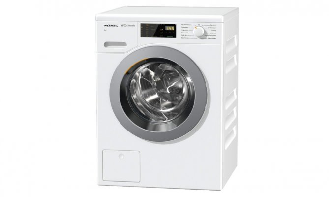 miele wdb020 eco washer washing machine front-load white color