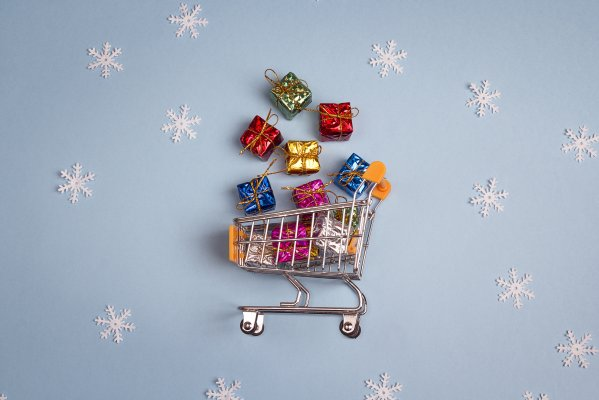 shopping presents gifts snow flakes christmas shopping shopping cart POS