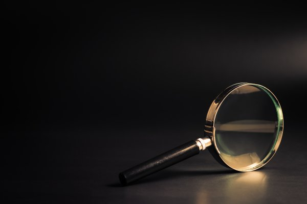 peoplefinders review background check service magnifying glass dark background
