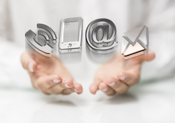 ringcentral overview online fax service hands holding phone mail signs