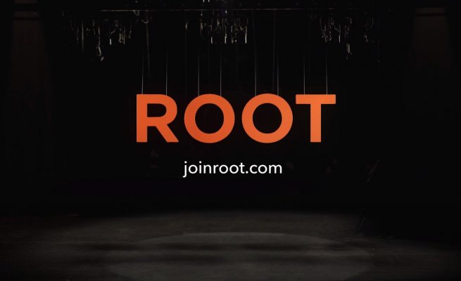 root logo black background root car insurance