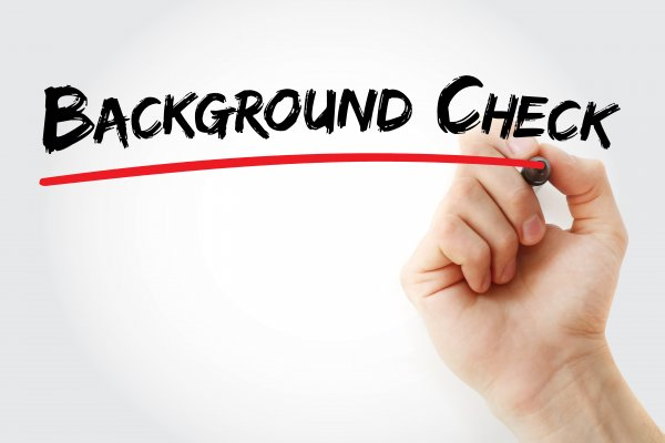 verispy features background check service hand writing background check in black marker underlining in red