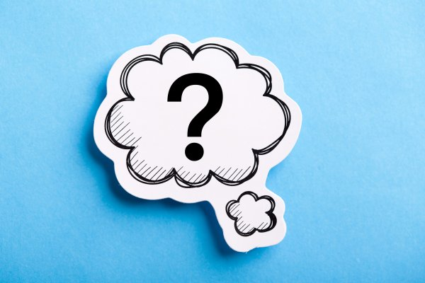 voip services question mark in cloud blue background
