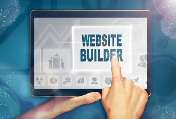 features benefits website builder site123 finger on ipad touch display