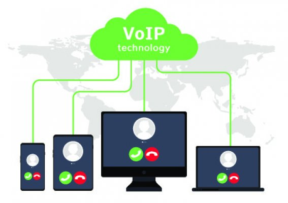 axvoice voip service features voip technology written on green cloud cloud communication between phones laptops desktops