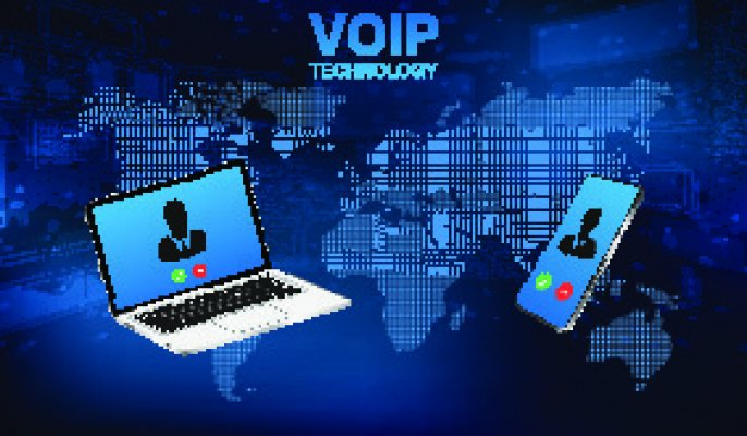 axvoice voip service benefits voip technology communication with laptop smartphone