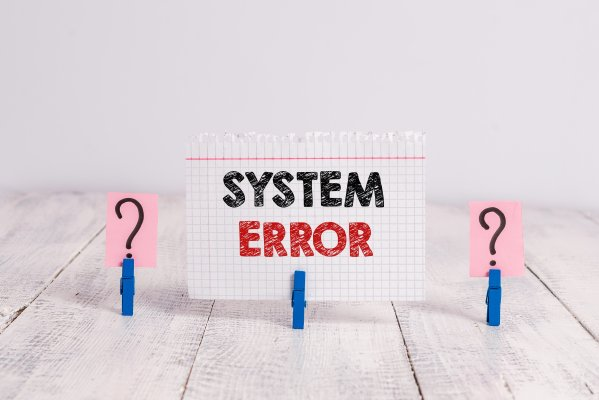 restoro system optimizers features system error written on piece of paper question marks