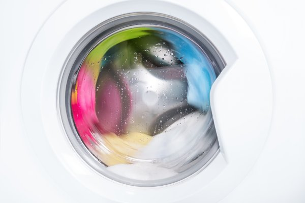 reliable washers washing machines durable best front-load washer with colored laundry inside wash cycle on