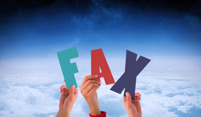 online fax service best hands holding letters spelling fax cloud background