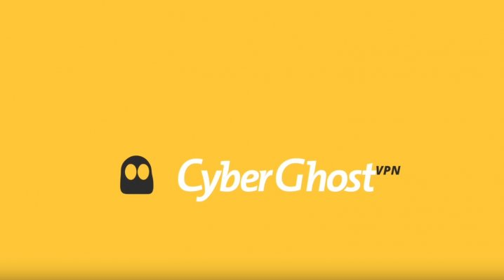 cyberghost vpn logo yellow background