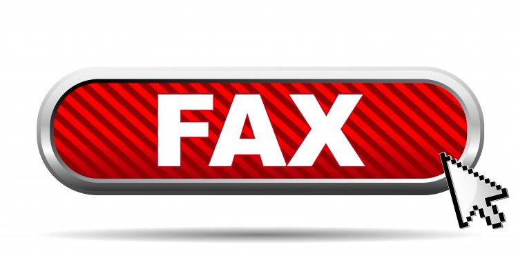 efax online fax service fax icon red background mouse arrow on it