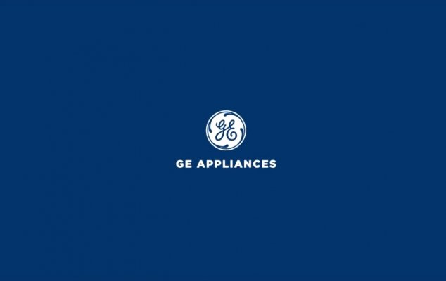 blue background ge appliances washing machines logo
