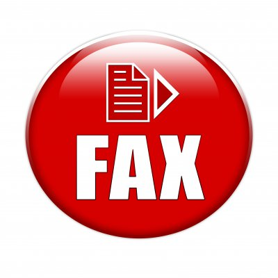 hellofax online fax service red circle with fax sign