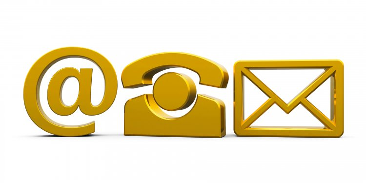 gold yellow symbols envelope @ telephone online fax service ringcentral