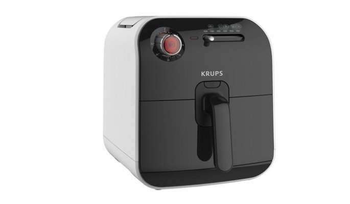 air fryer krups fry delight black and white white background