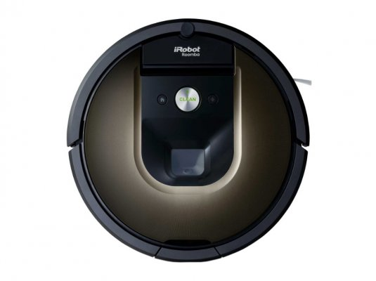 irobot roomba 980 round shape gray black color robot vacuums