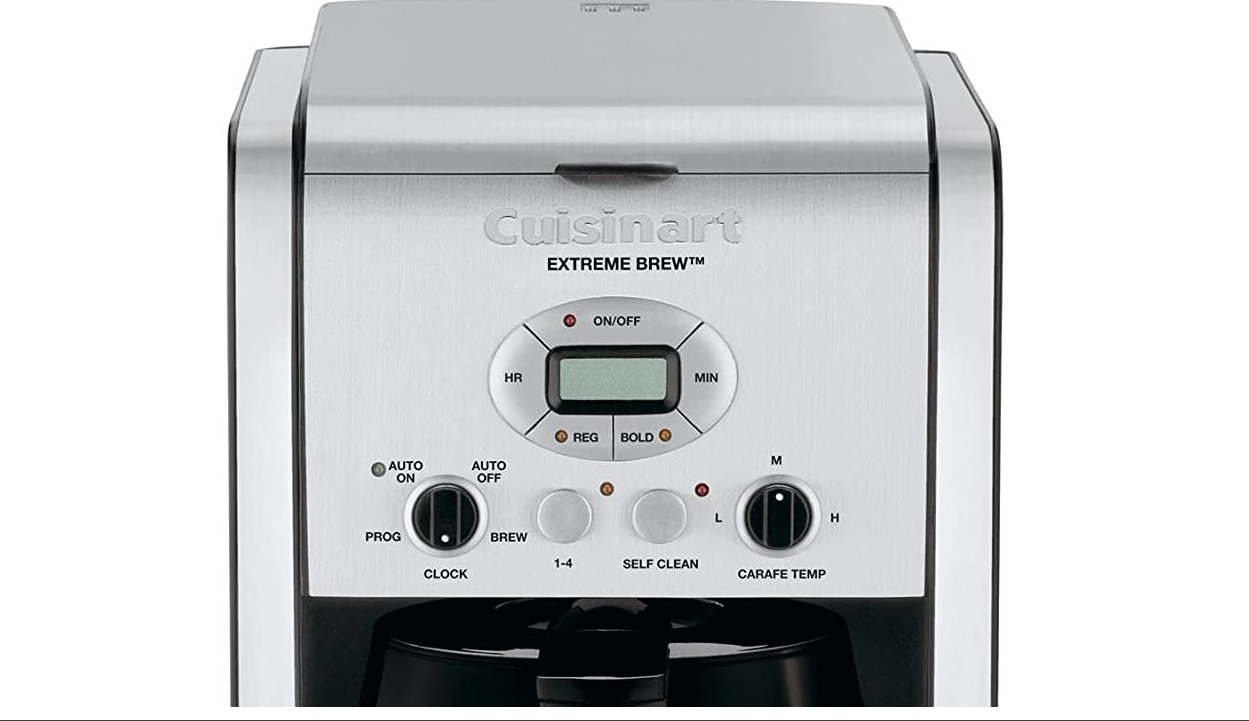 cuisinart dc-2650 extreme brew close-up controls