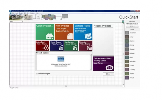 TurboFloorPlan Home & Landscape Pro home design software screenshot