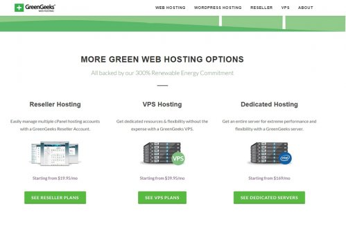 green geeks available web hosting services