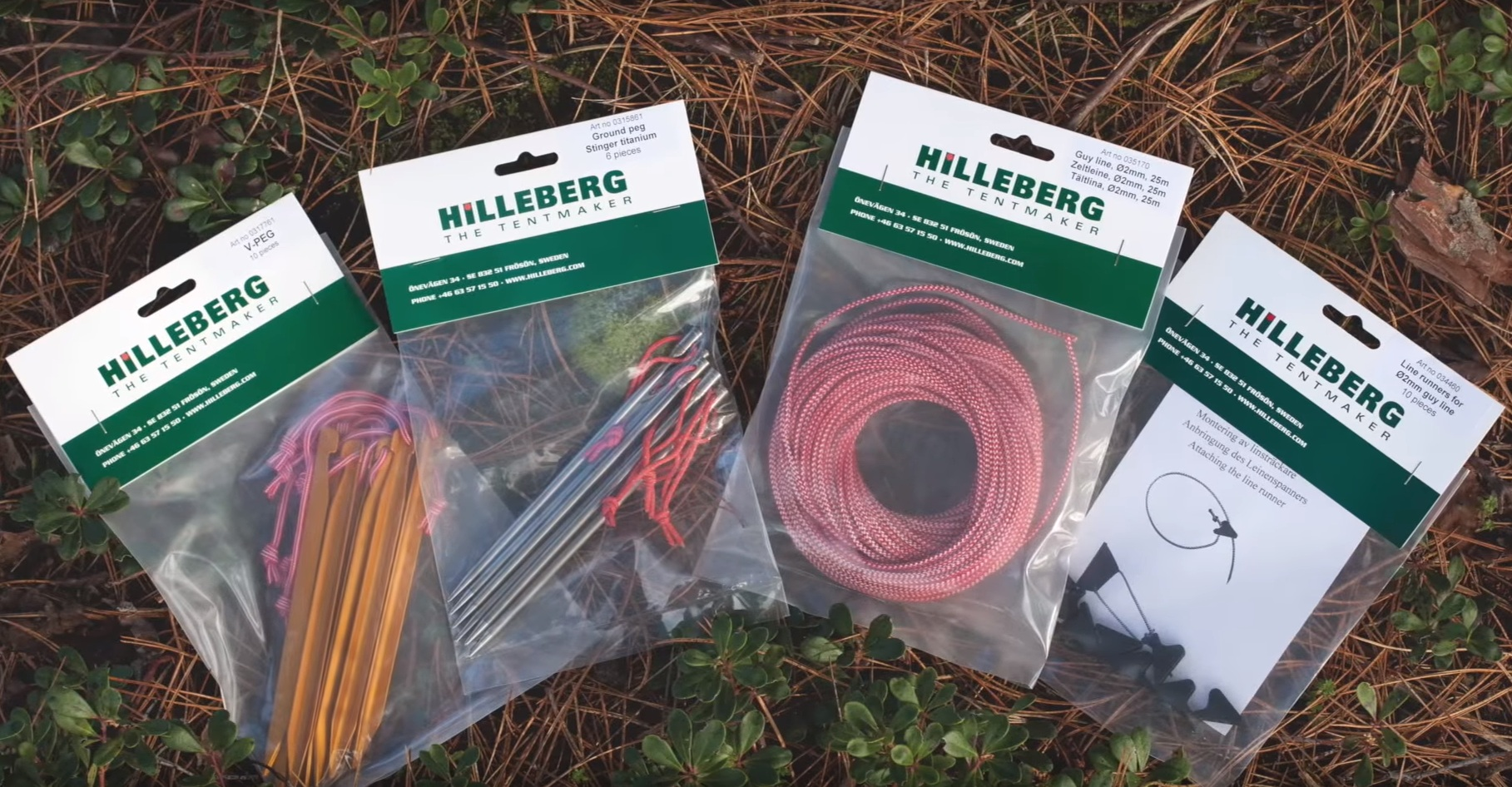 Hilleberg Niak backpacking tents parts