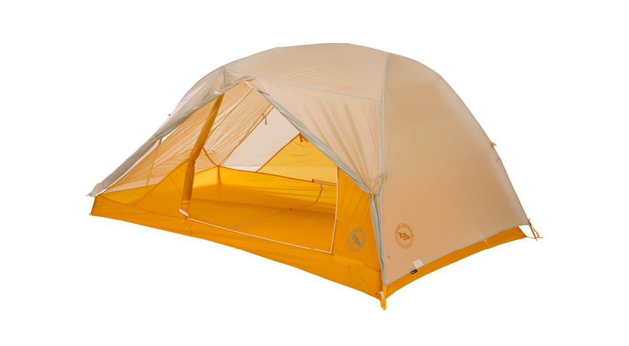 Big Agnes Tiger Wall UL2 backpacking tent orange