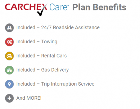 carchex extended car warranty carchex care plan benefits